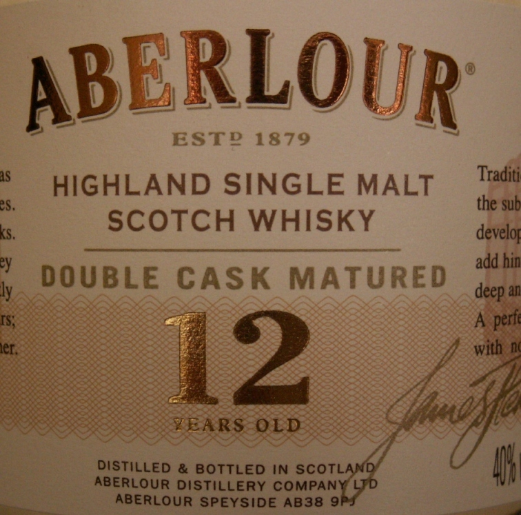 Aberlour 12 label 40