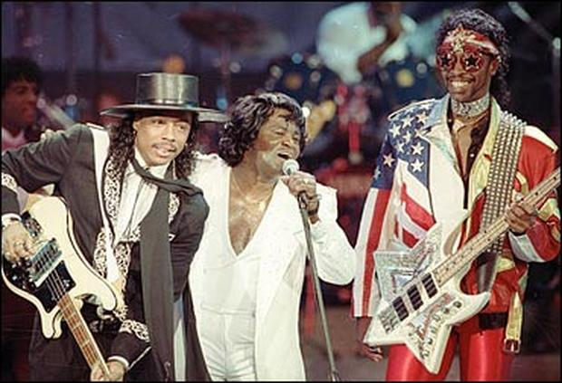 Rick, Bootsy and James
